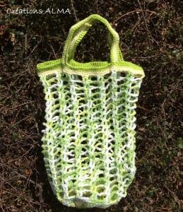 Sac filet coton - Granny vert